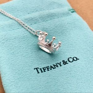 Tiffany and co sterling silver Crown necklace
